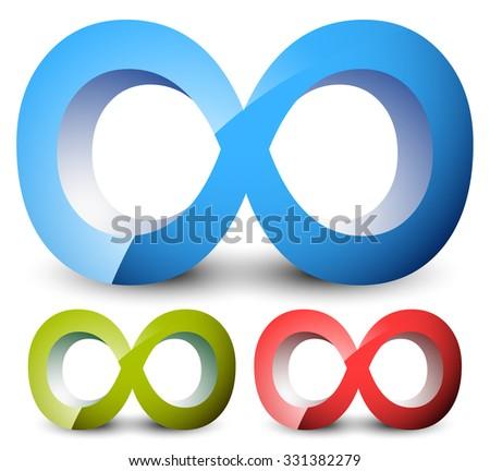 Infinity Symbol Eeverlasting Infinite Cycle Continuity Stock Vector