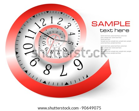 Infinity time background. Vector illustration - stock vector