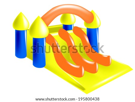 inflatable - stock vector