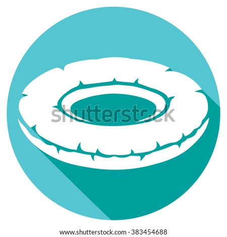 inflatable inner tube flat icon (floater, swimming tire) - stock vector
