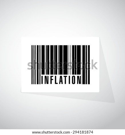 inflation barcode sign concept illustration design graphic - stock vector