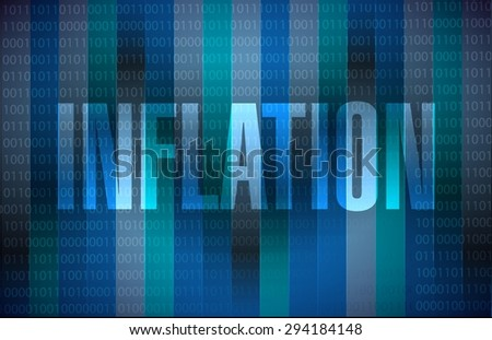 inflation binary sign concept illustration design graphic - stock vector