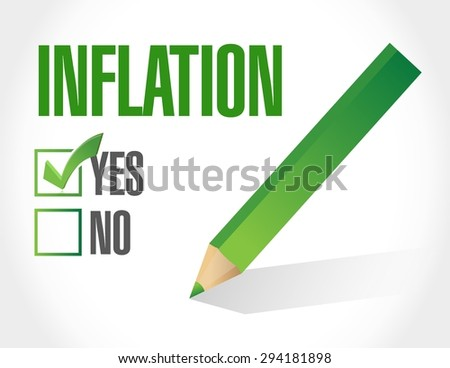 inflation check mark sign concept illustration design graphic