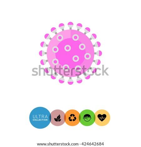 Influenza Vector Icon - stock vector
