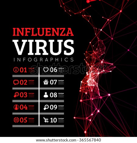 Influenza virus vector illustration - stock vector