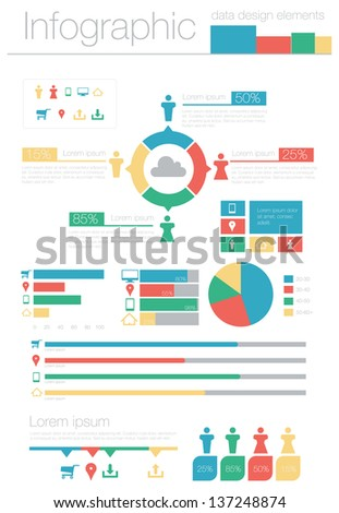 Info Graphic Data Design Elements - stock vector