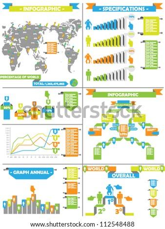 INFO GRAPHIC DEMOGRAPHIC RETRO LABEL TOY - stock vector