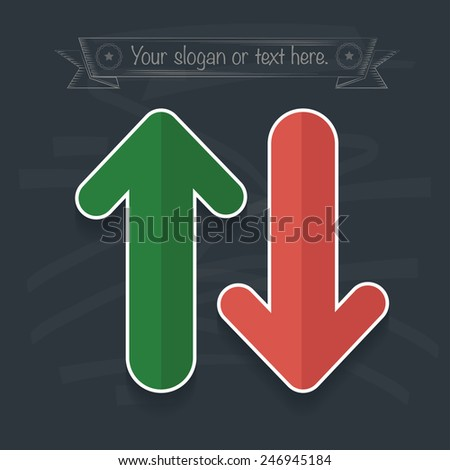 Info graphic design on blackboard background, clean vector - stock vector