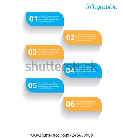Info-graphic design template. Idea to display, ranking and statistics. - stock vector