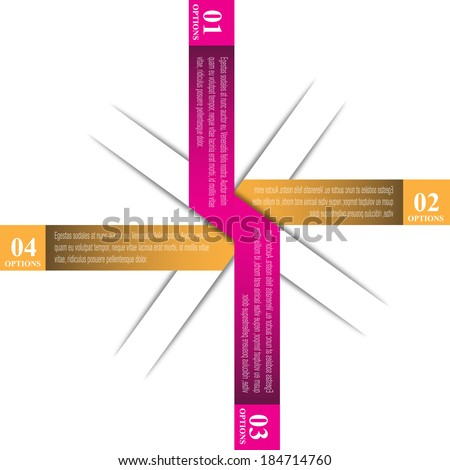 Info-graphic design template with paper tags. Idea to display , ranking and statistics.  - stock vector