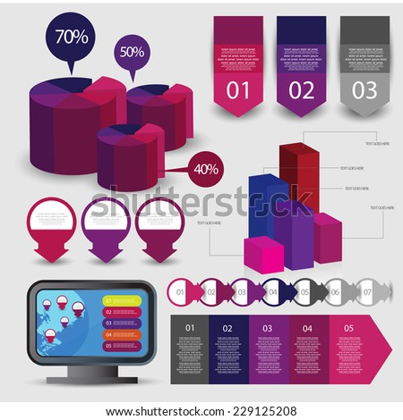 Info graphic element design. vector - stock vector