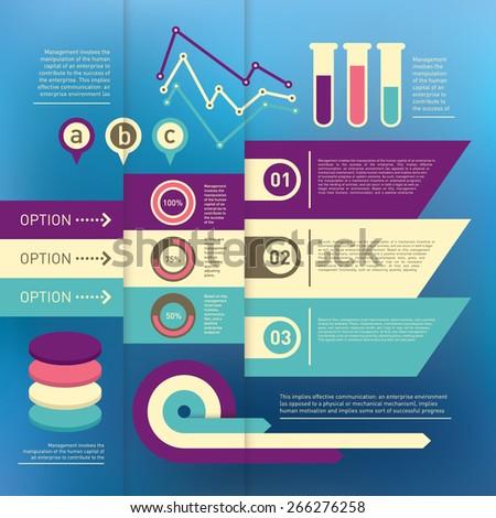 Info graphic elements. Vector illustration. - stock vector