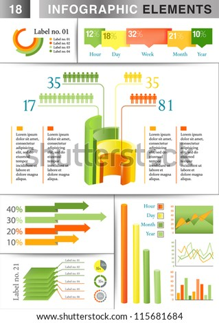 INFO GRAPHIC graph ELEMENT - stock vector