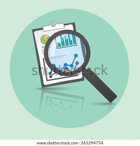 Info Graphic reporting and searching template. - stock vector
