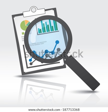 Info Graphic reporting and searching template. Eps10 file. - stock vector