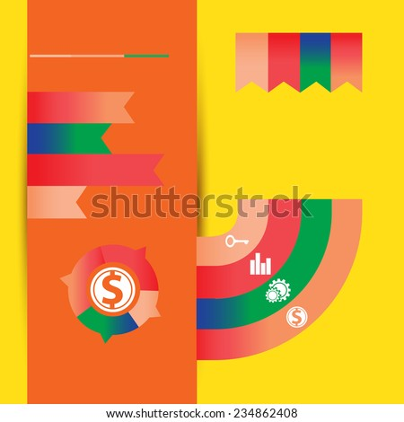 Info graphic world stats 9 - stock vector