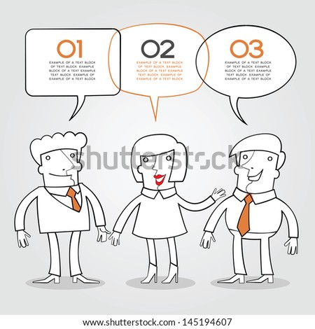 info-graphics background with text space. Business concept. Communication in a team.Team discussion