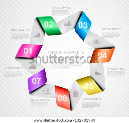 Info graphics banner with numbers. Modern design template. Vector illustration - stock vector