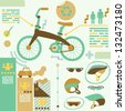 info graphics/bicycle - stock vector
