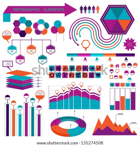 Info graphics elements collection - stock vector