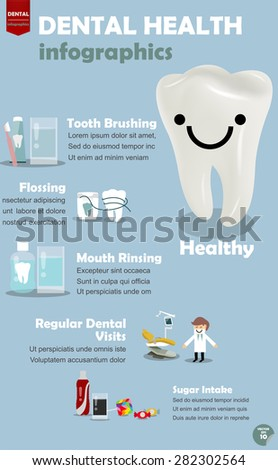 info graphics how to get good dental health, procedure to get good dental health - stock vector