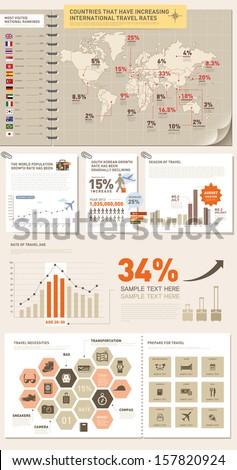 info graphics overseas trip  - stock vector