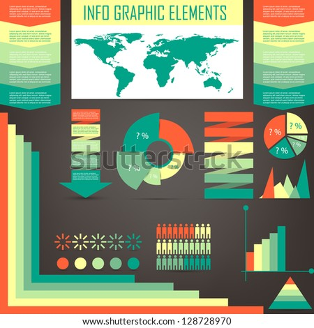 info graphics set - stock vector