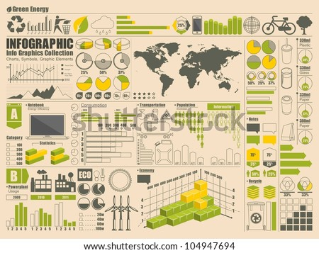 Info Graphics Set, vector elements - stock vector