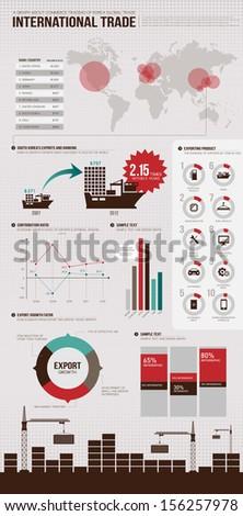 info graphics trade  - stock vector