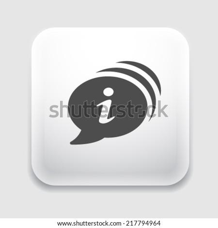 Info icon. - stock vector