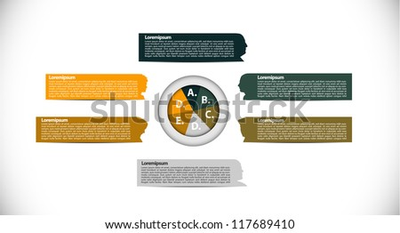 Infochart with faces - stock vector