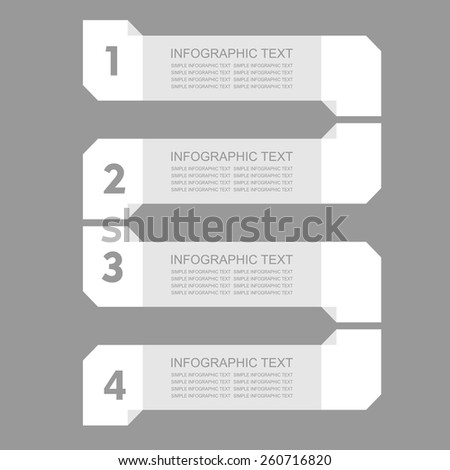 Infogaphics simple. 4 steps - grey color. vector format. - stock vector
