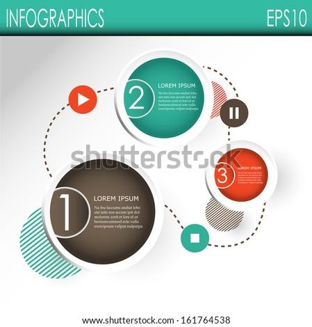 Infografic designs, vector - stock vector