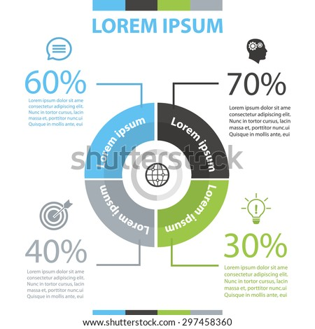 Infographic - stock vector