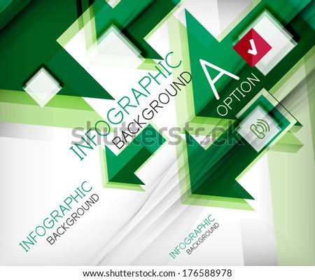 Infographic abstract background - arrow geometric shape.