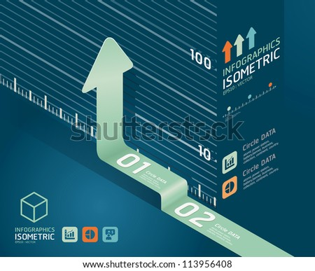 infographic arrow diagram chart. Detailed   / can be used for infographics / graphic or advertise layout vector illustration - stock vector