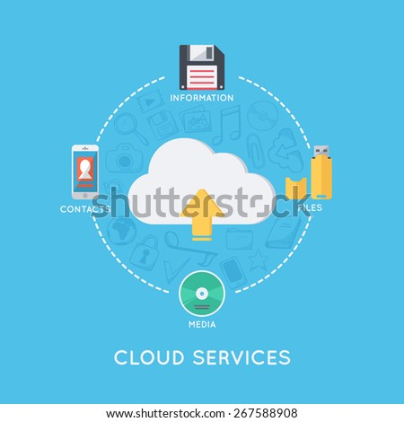 Infographic background. Cloud service concept. Modern flat design template.  - stock vector