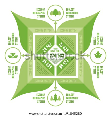 Infographic Business Concept for Presentation - vector scheme with Icons of nature or ecology system. Organic product infographic. Infographic elements.  - stock vector