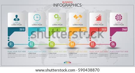 timeline infographic horizontal