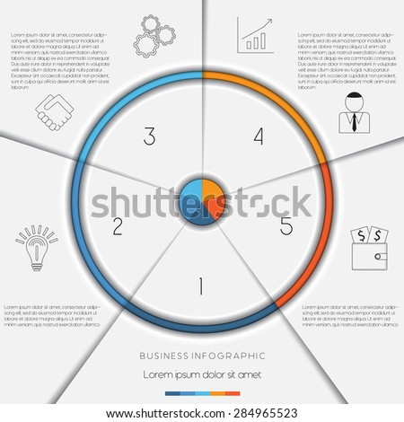 Infographic business process workflow template text stock vector infographic business process or workflow template with text areas on 5 positions wajeb Image collections