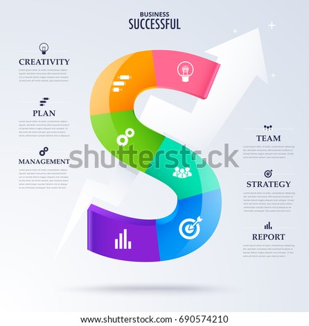 Infographic business successful concept character word stock photo infographic business successful concept character word s for success concept vector diagram ccuart Images