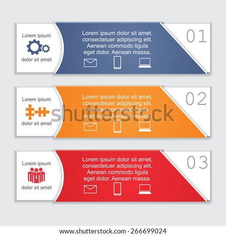 Infographic card report template. Vector illustration Eps 8 - stock vector