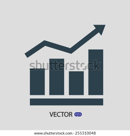 Infographic, chart  icon, vector illustration. Flat design style - stock vector