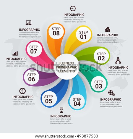 Infographic circle diagram vector banner 8 stock vector royalty infographic circle diagram vector banner with 8 steps parts options template for ccuart Choice Image