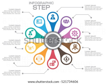 Infographic circle diagram vector banner 10 stock vector royalty infographic circle diagram vector banner with 10 steps parts options template for ccuart Choice Image