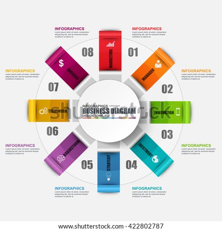 Infographic circular diagram vector design template. Can be used for workflow, cycle layout, business process, chart, infographic banner, teamwork, infographic elements, information infographics.