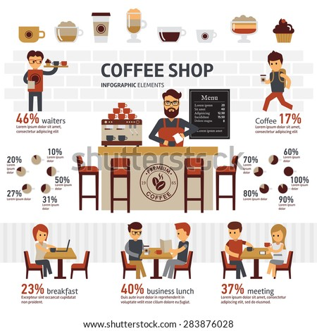 Infographic Coffee shop - stock vector