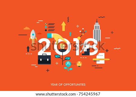 infographic concept 2018 year of opportunities new trends and prospects in career building