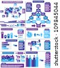 INFOGRAPHIC DEMOGRAPHICS PURPLE 11 - stock photo
