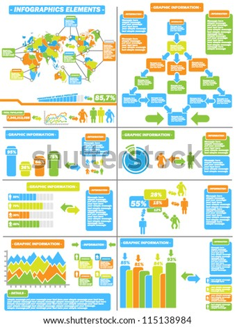 INFOGRAPHIC DEMOGRAPHICS TOY 11 - stock vector